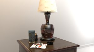 lamp magazine glass 3D
