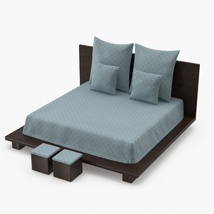 bed pbr 3D model