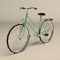 ladies bike 3D model