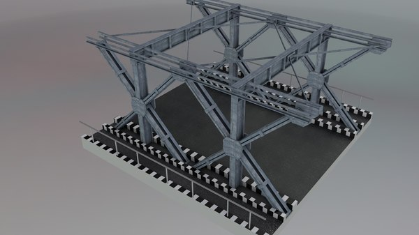 steel construction bridges 3D model