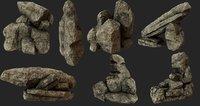 rocks environment 3D model