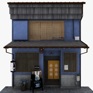old japanese restaurant 3D model