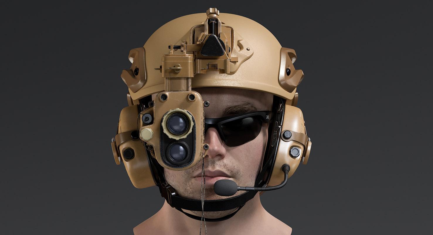 male marine head model