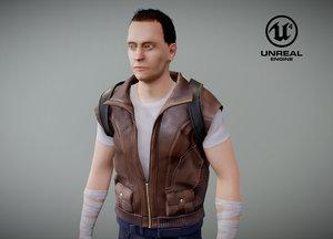 survivalist character 3D