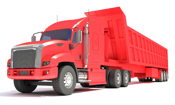 3D truck tipper trailer model