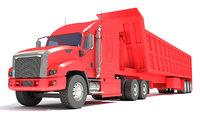 3D truck tipper trailer model