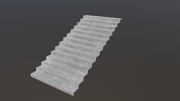 3D photoscanned stairs -