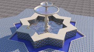 traditional fountain 3D model