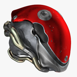3D helmet vr metal 12 model