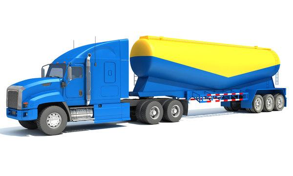 3D truck tanker trailer