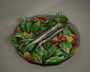 fish salad 3D model