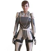 sci fi girl 3D