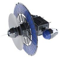 3D satellite solar panels
