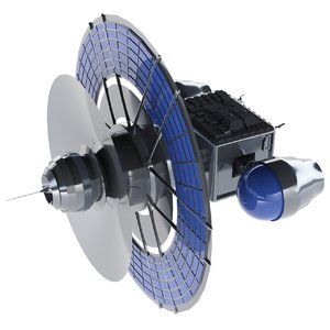3D satellite solar panels