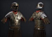 3D realistic ancient roman armor model