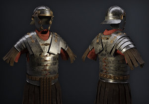 3D realistic ancient roman armor model
