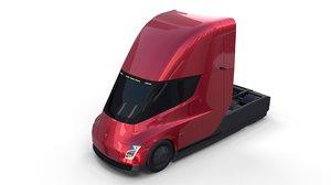 tesla semi truck model