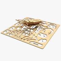 beetle laser cut animation 3D