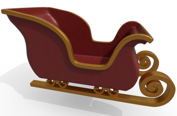 santa s sleigh 3D