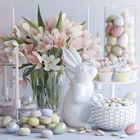 decorative easter set 3D model