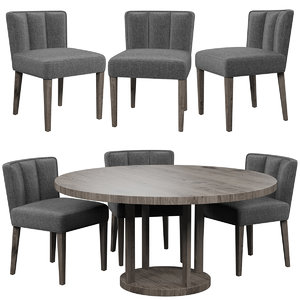 3D eichholtz dining chair windhaven model