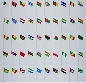 flags world 3D