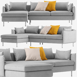 3D model sofa modular sections