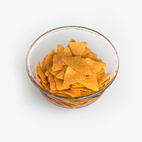 bowl corn chips 3D model