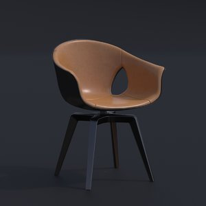 roberto lazzeroni ginger leather chair 3D model