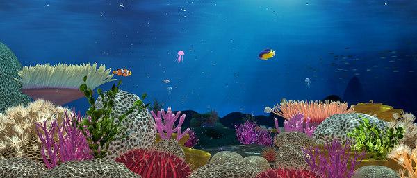 sea bubbles fishes model