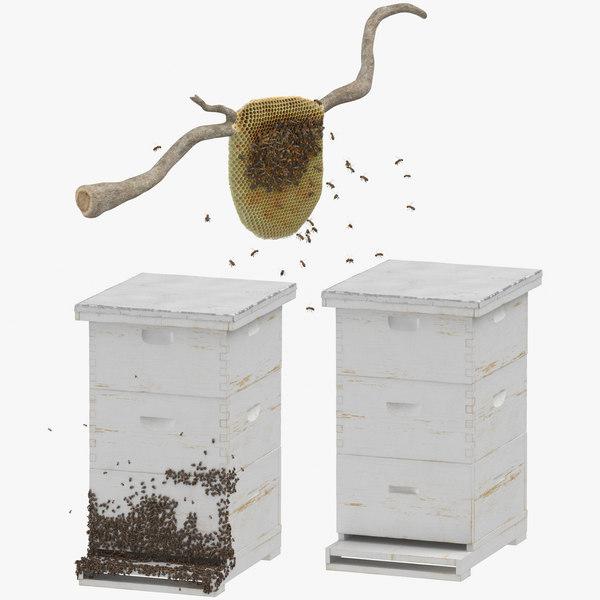 3D model bee hives