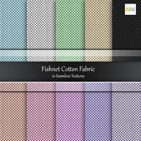 Fishnet Cotton Seamless Fabric Textures