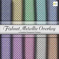 Fishnet Metallic Overlay Seamless Textures