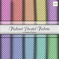 Fishnet Pastel Fabric Seamless Textures