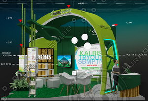 3D model exhibition booth