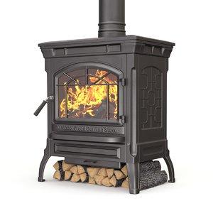 wood flame 3D model
