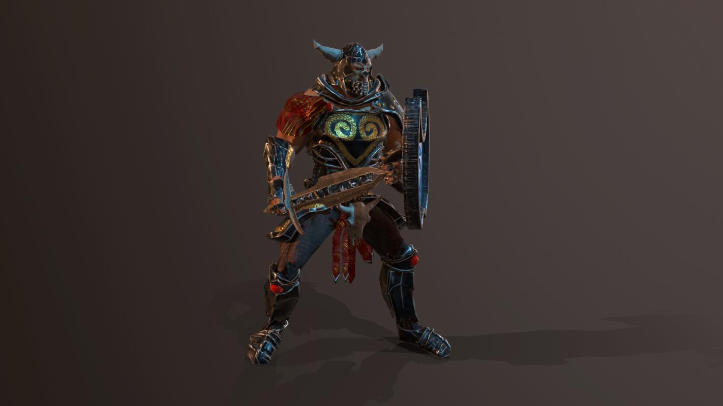 pbr animations armor model