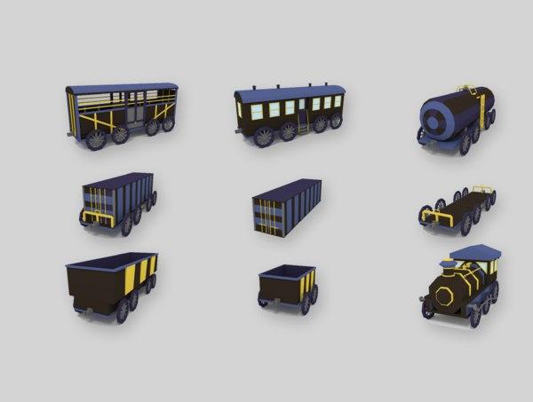 3D model locomotive pack