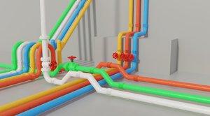 modular pipe 3D model