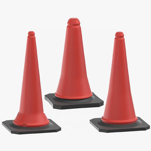 3D construction cones