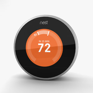 3D nest thermostat model