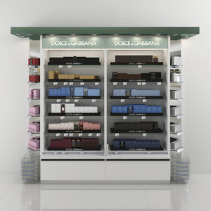 3D model dolce gabbana perfume shelving
