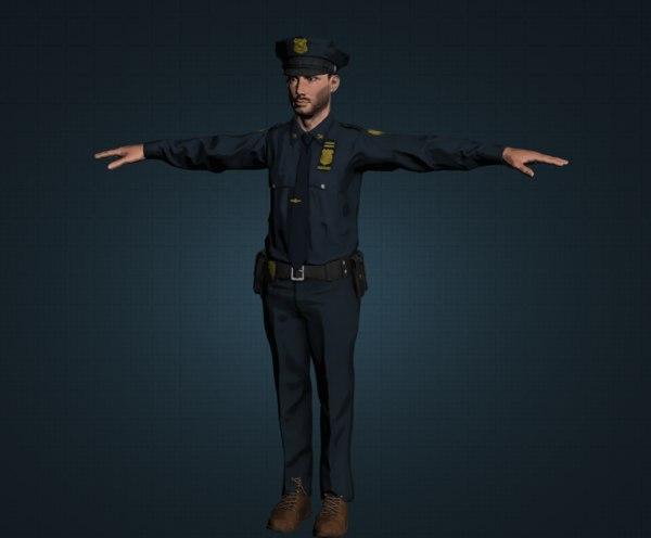 3D police men model