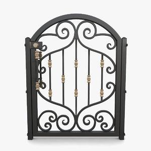 wrought iron gate 01 model