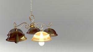 3D bronze chandelier model