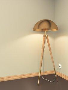 3D luna floor lamp