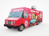 3D model 26 feet barbeque van