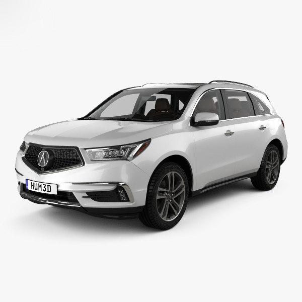 Acura Mdx 2017 3D Model