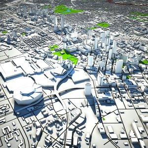 3D atlanta skyline 3