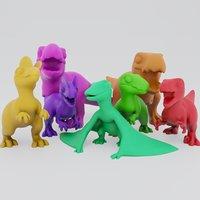 cute carnivores 3D model